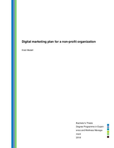 digital marketing plan for nonprofit organization
