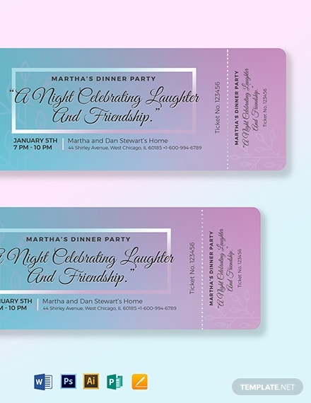 dinner party ticket template2