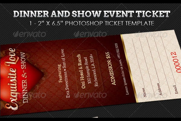 dinner and dance event ticket