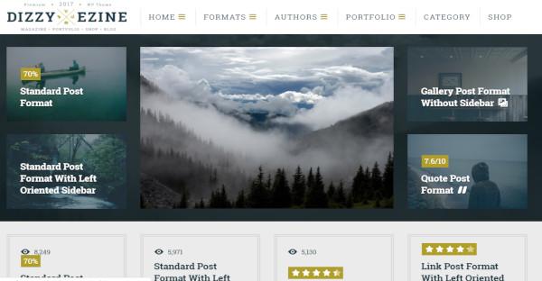 dizzymag ad friendly wordpress theme