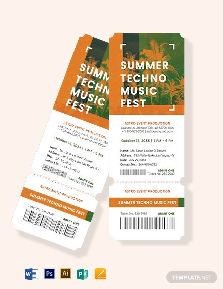 download pre sale ticket template
