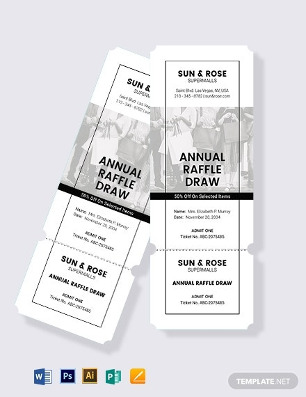 download raffle sale ticket template