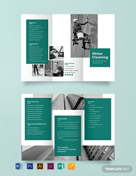 downloadable cleaning service brochure design