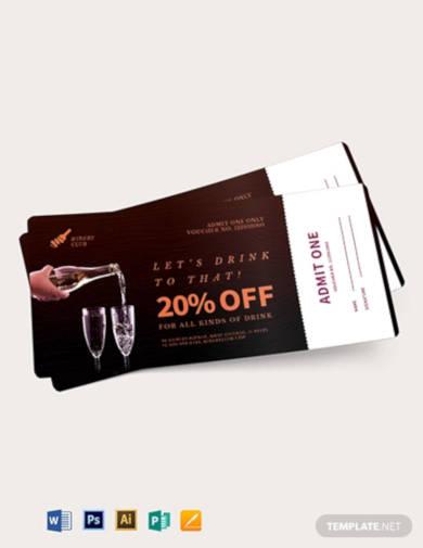 drink ticket voucher template