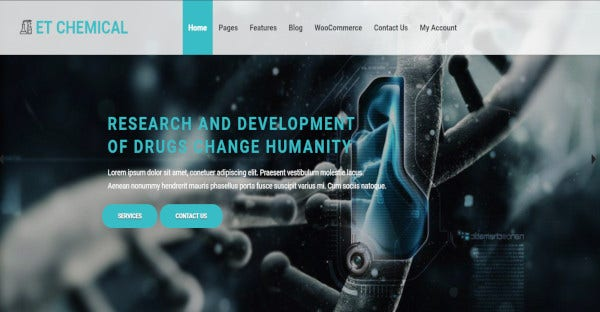 ET Chemical - Cherry Framework WordPress Theme