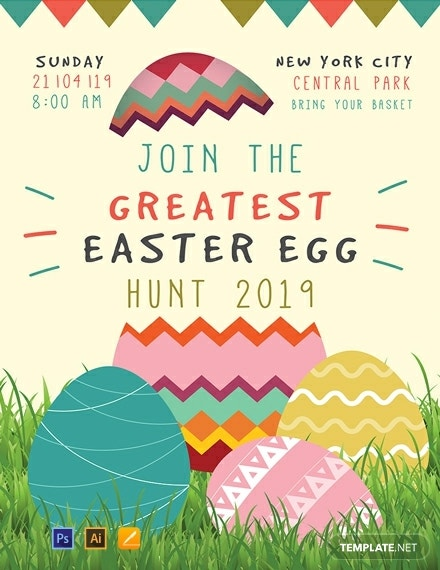 easter egg hunt poster layout