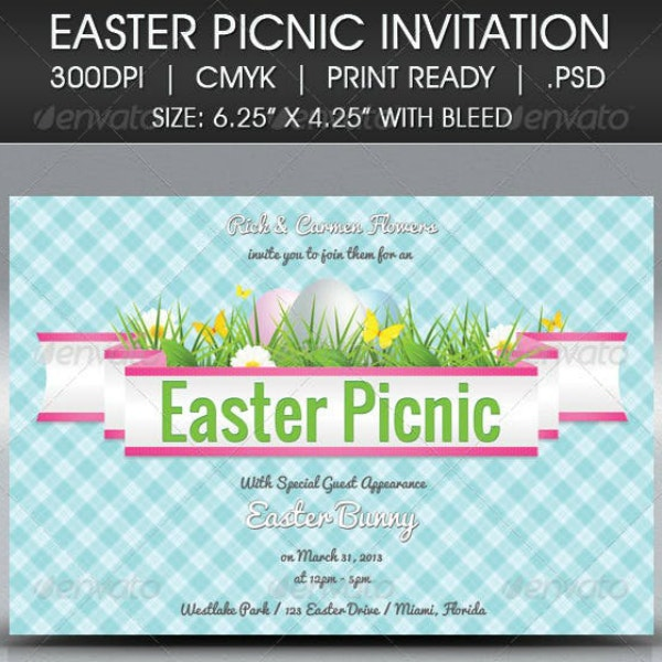 easter picnic invitation card format