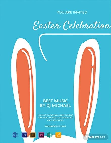 easter sunday celebration flyer template