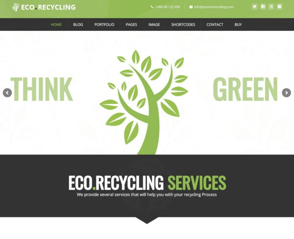 ecology nature wordpress theme