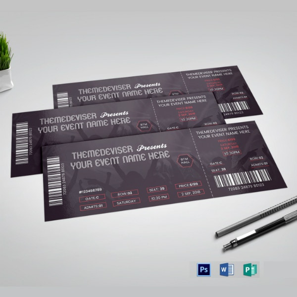 editable church event ticket example