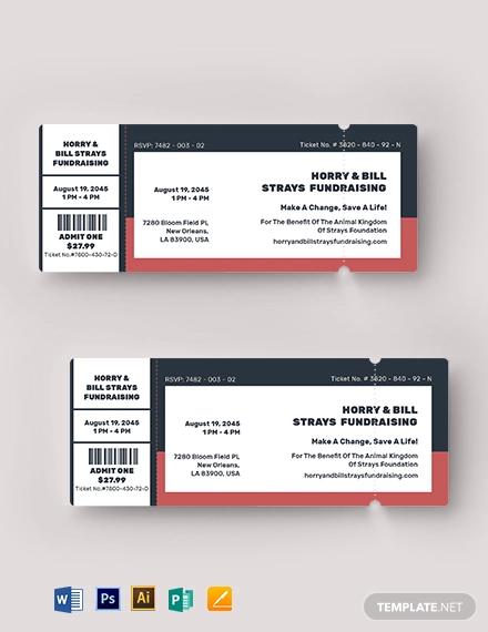editable fundraiser ticket template