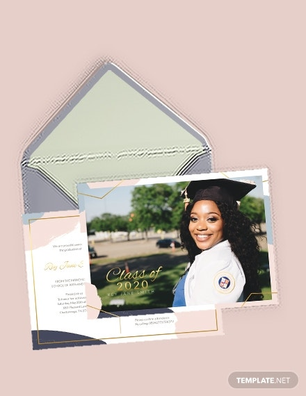 editable graduation announcement postcard format