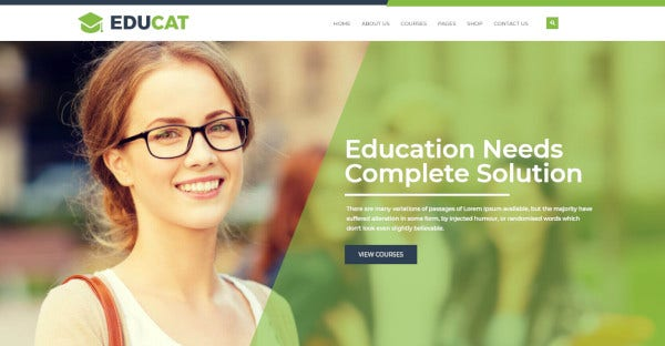 educat bootstrap compatible wordpress theme