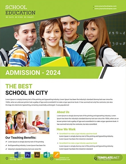 education back to school flyer template