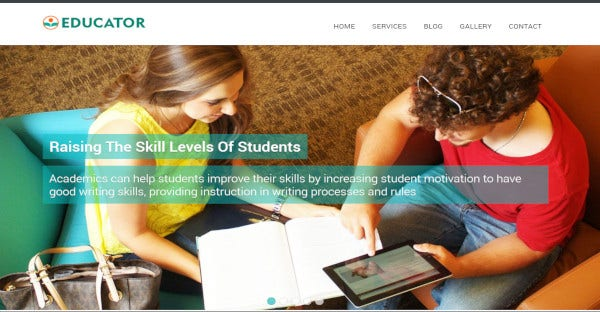 educator – seo friendly wordpress theme