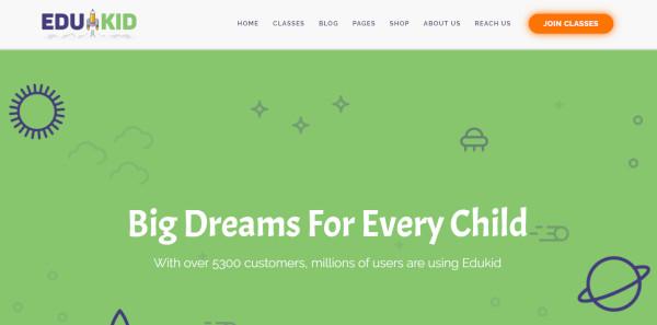 edukid 600 google fonts wordpress theme