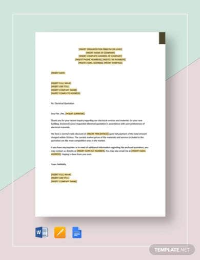 electrical-quotation-template
