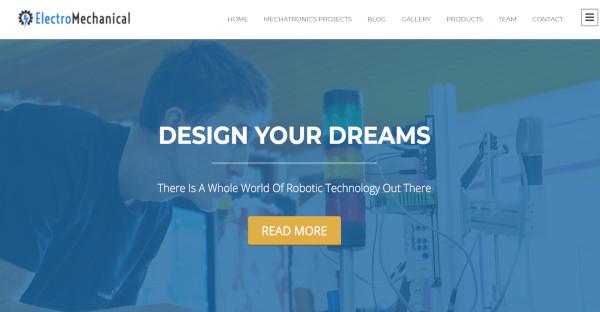 electromechanical – mobile friendly wordpress theme