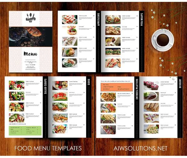 elegant catering service menu template