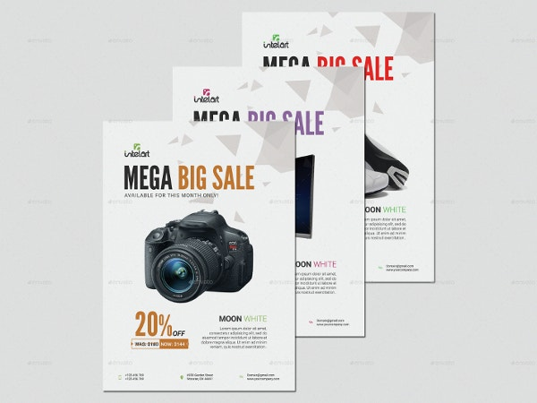 elegant product sales flyer template