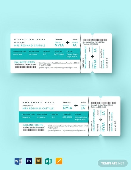 elegant theme airline ticket design