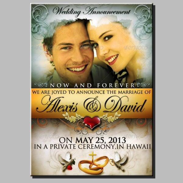 Elegant Wedding Announcement Poster Sample