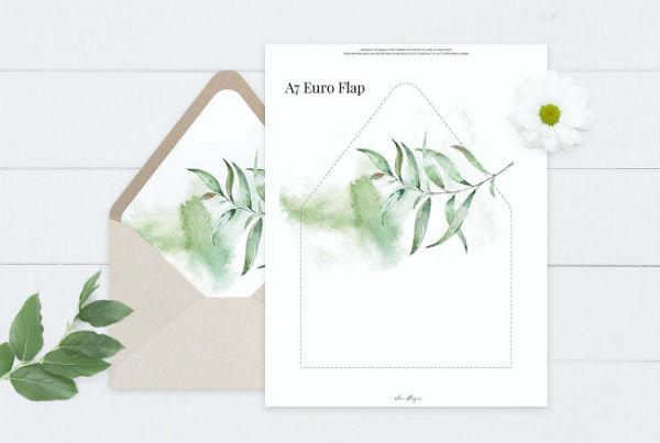 elegant wedding envelope template