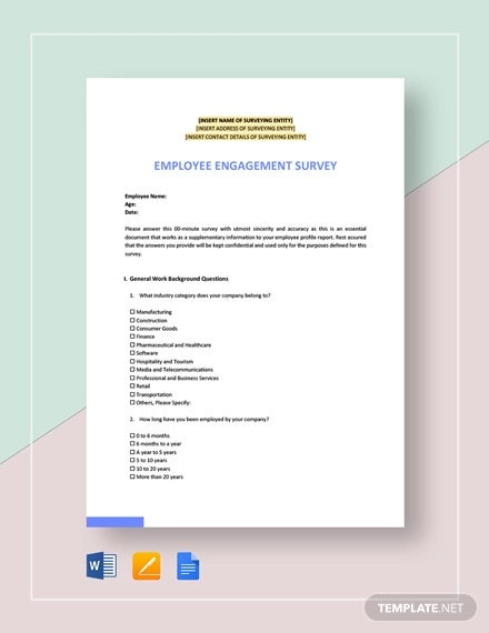 employee engagement survey template
