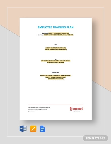 employee training plan
