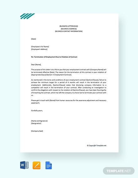 employment contract termination letter1