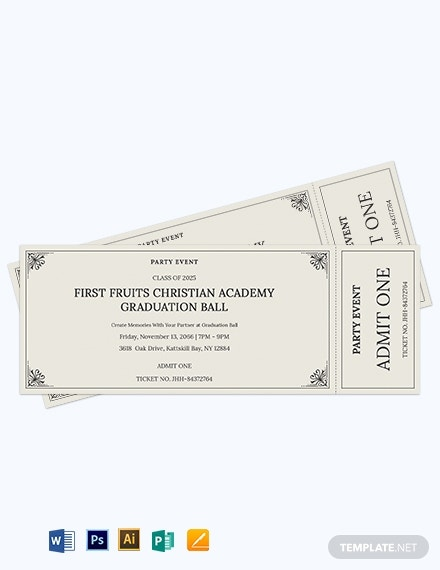 event party admit one ticket