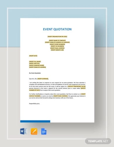 event-quotation-template