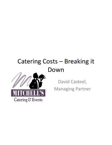 example catering budget