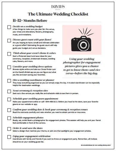 example of wedding checklist template