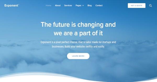 Exponent - Translation Ready WordPress Theme