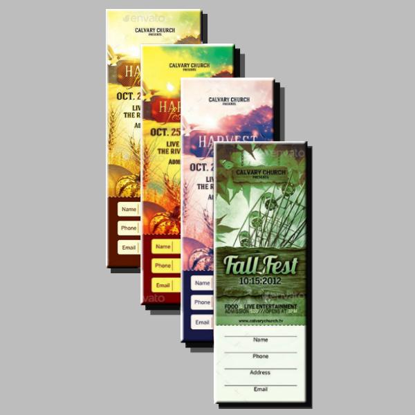 Fall Harvest Festival Ticket Template