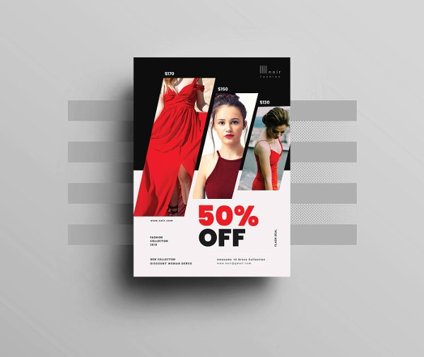 fashion product sales flyer template