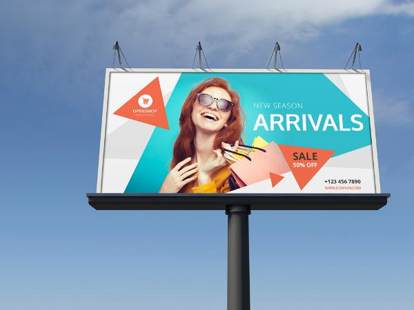 fashion sale billboard template