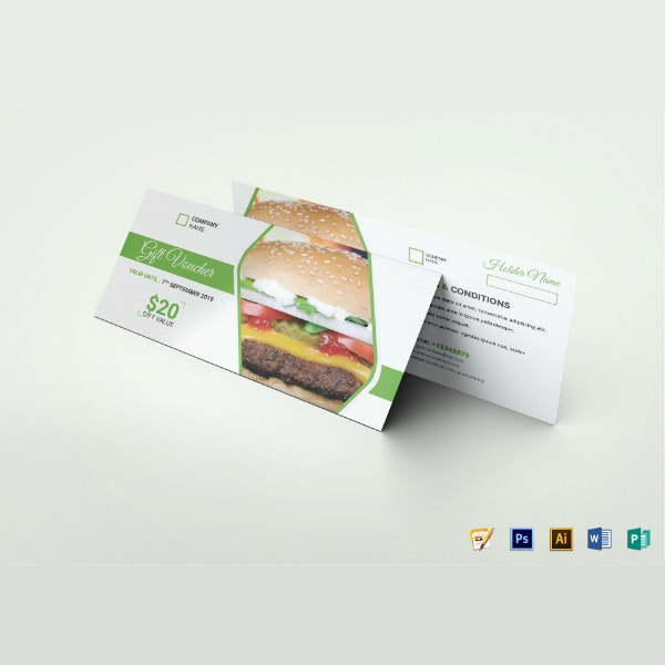 fast food gift voucher example