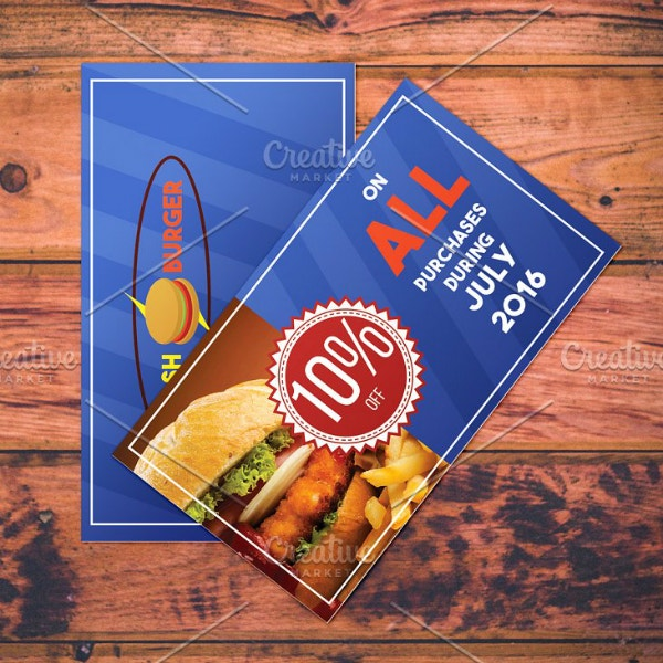 Fast Food Restaurant Coupon Example