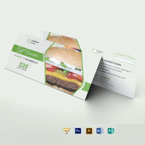 fast food restaurant voucher example