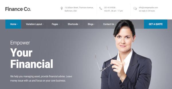 Finance Co. - 800+ Google fonts WordPress Theme
