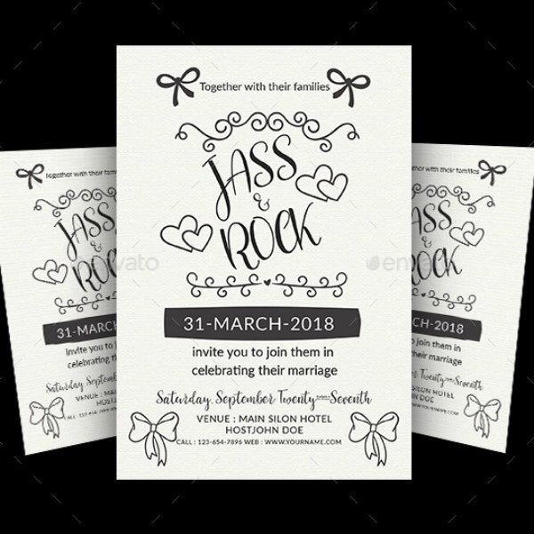 Fine Lines Wedding Flyer Design
