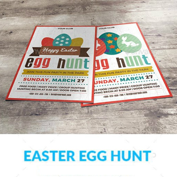 flat easter party invitation layout
