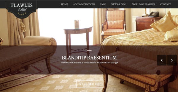 Flawleshotel – Translation Ready WordPress Theme