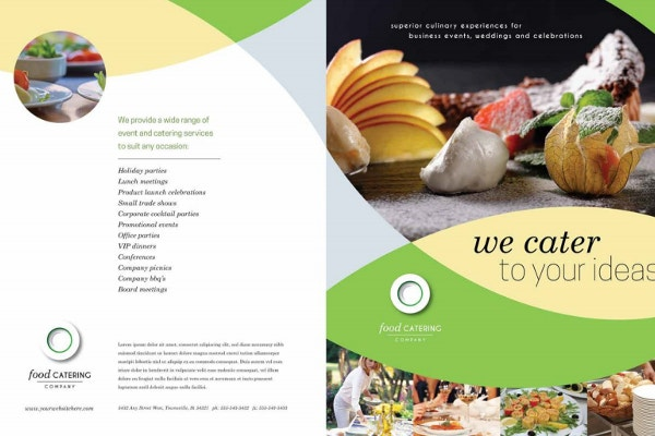 food catering event brochure