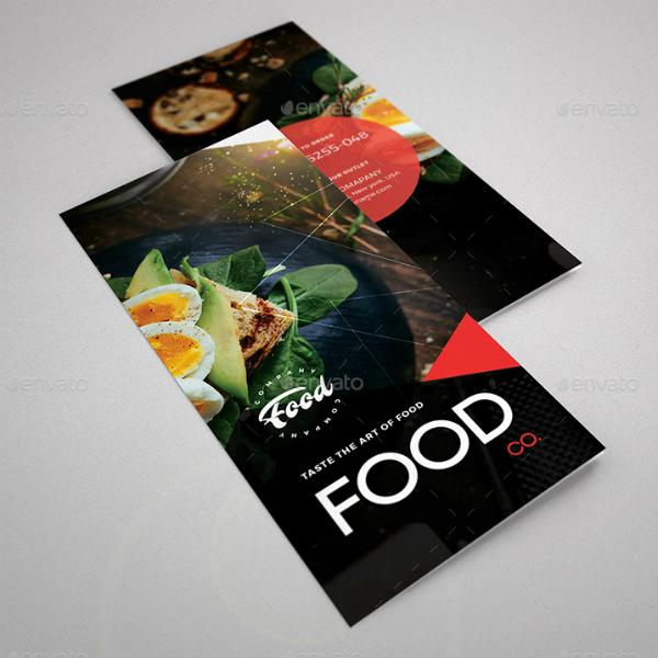 food company restaurant brochure layout