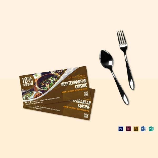 food cuisine coupon voucher layout