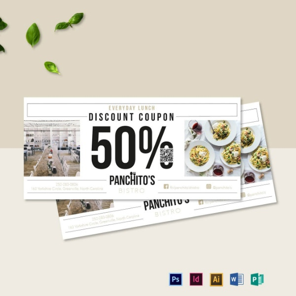 food cuisine restaurant coupon template