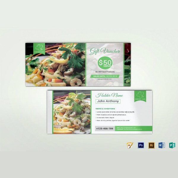 food products gift voucher format